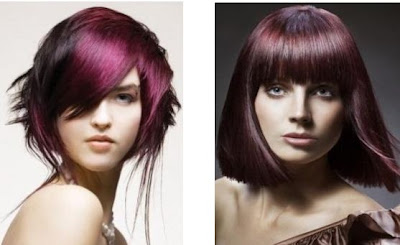 purple hair style trend for winter 2012