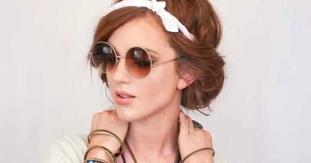 The Freckled Fox: Festival Hair Week: Easy Headscarf Roll