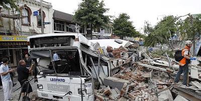 imagenes del terremoto en nueva zelanda 2011