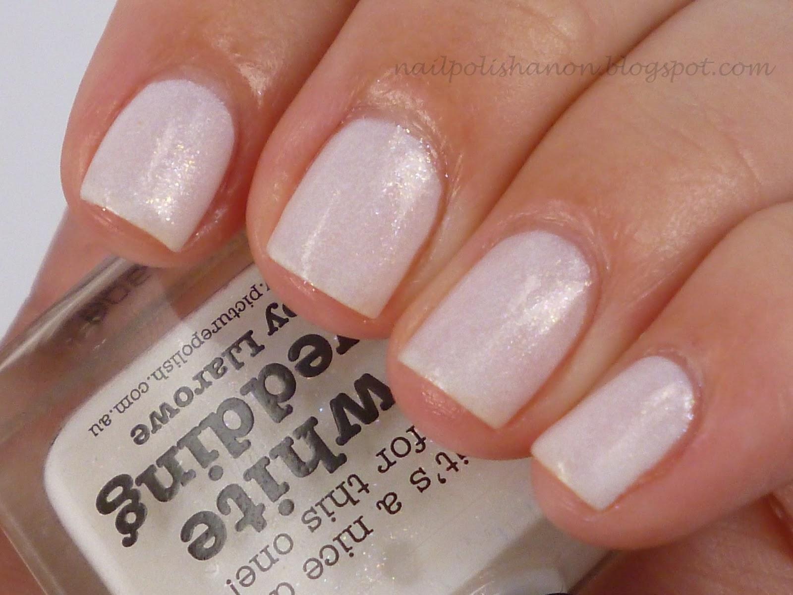 nail polish anon: picture polish white wedding swatches & review