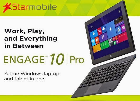 Starmobile Engage 10 Pro Announced, Windows 8.1 2-in-1 Convertible