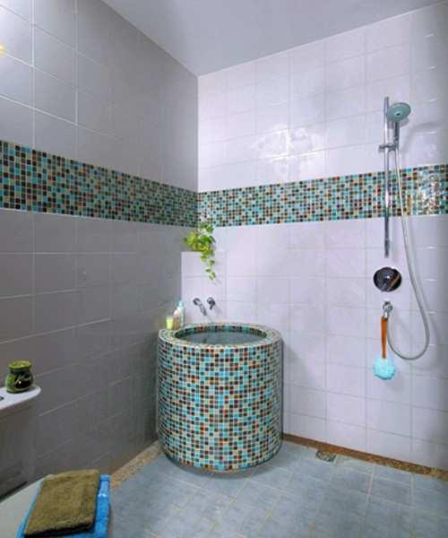 Konsep Desain Keramik Kamar Mandi Sederhana Aneka Motif Untuk Interior