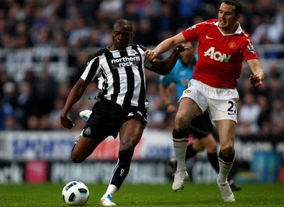 John Oshea Manchester United vs Newcastle United Barclays Premier League