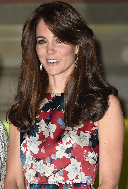 Catherine, Duchess of Cambridge attends the 100 Women In Hedge Funds Gala Dinner In Aid Of The Art Room at Victoria and Albert Museum