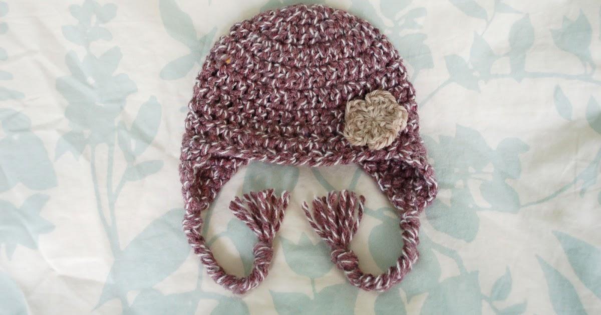 Newborn Single Crochet Hat Pattern : Alli Crafts: Free Pattern: Earflap Hat Premie