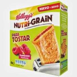 Kellogg's Nutri Grain para tostar frambuesa