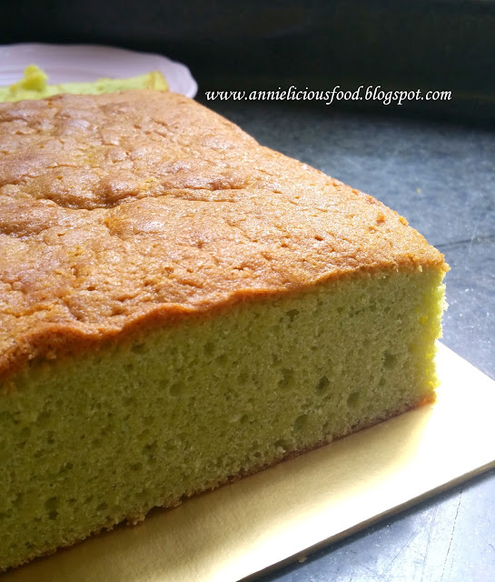 Coconut Cake With Green Stuff Under Coconut