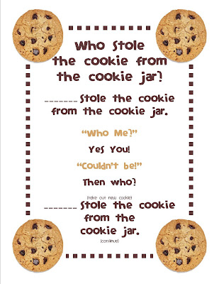 Who Stole The Cookie From The Cookie Jar Book Mesmerizing Who Stole The Cookie From The Cookie Jar Freebie And A Peek At My