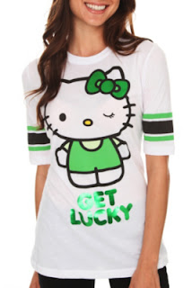 Hello Kitty Get Lucky Hockey Girls T-Shirt