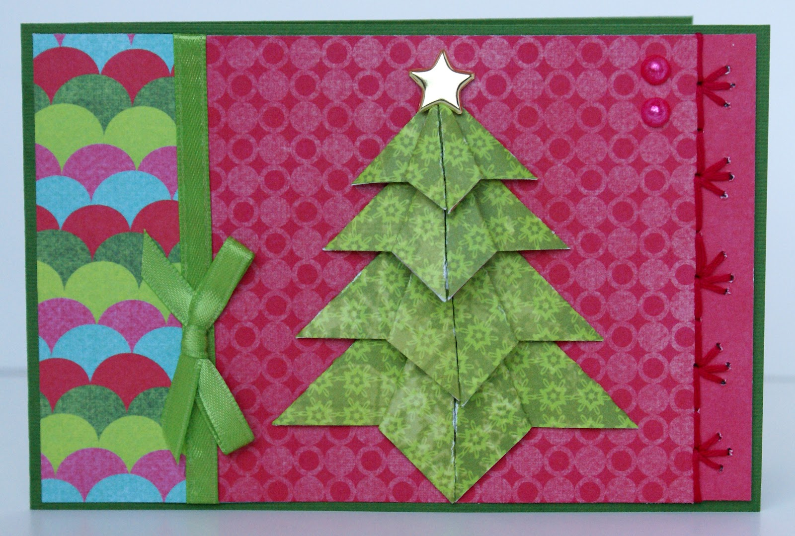 The Happy Yappy Scrapper Origami Christmas Tree Card Class