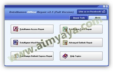 Gambar: Interface DataNumen Office Repair