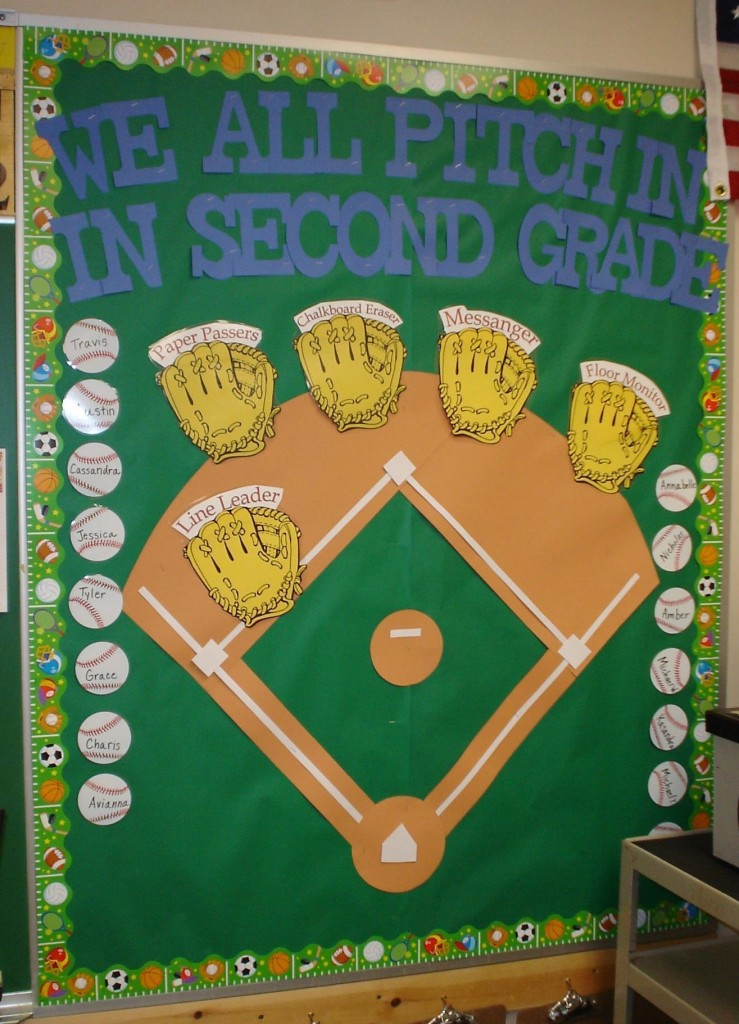 Classroom Ideas Bulletin Boards ~ Sports themed classrooms clutter free classroom