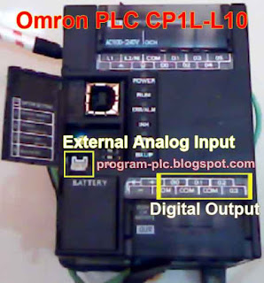 External Analog Input Omron PLC CP1L-Ll10