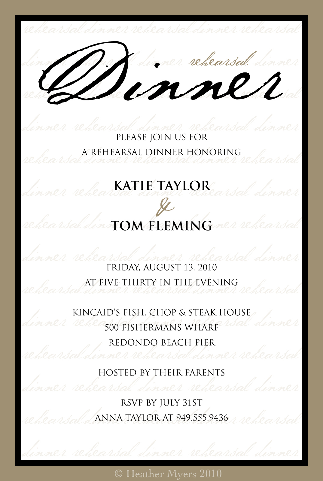 Dinner invitation templates free friedricerecipe Image collections