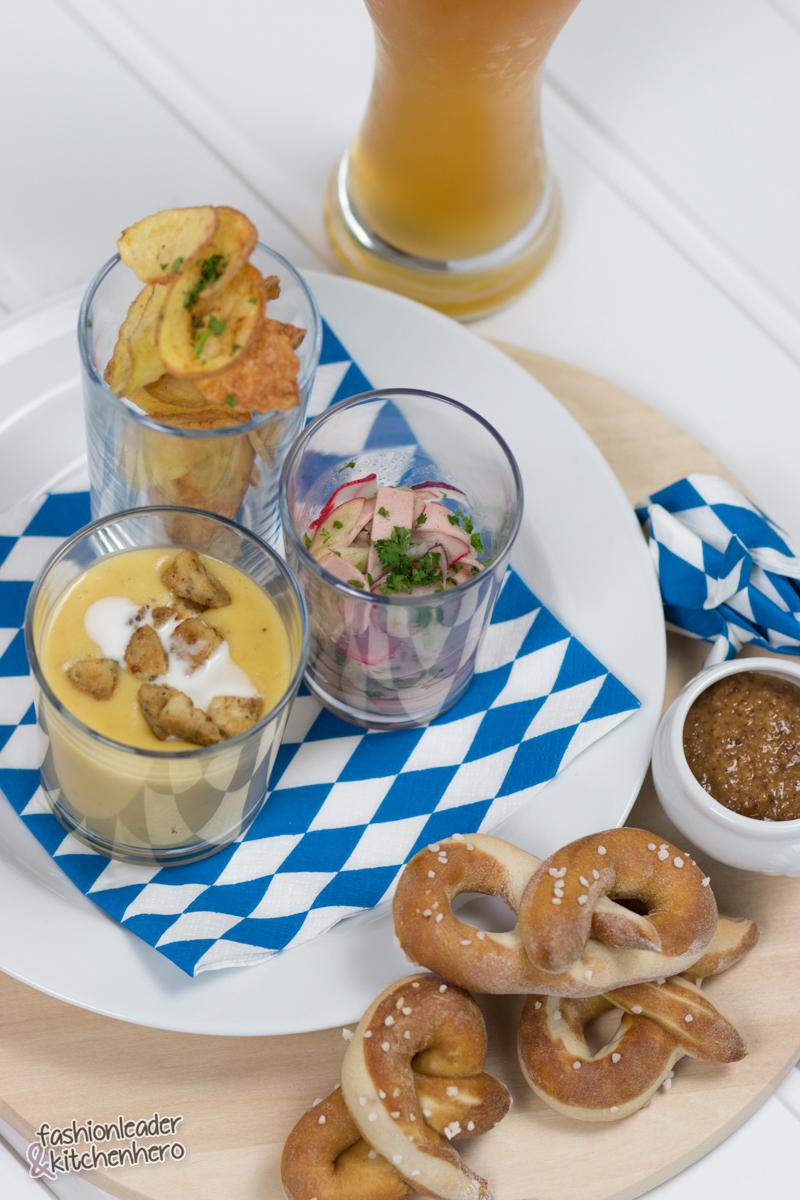 Oktoberfest, Wiesn, Bloggerwiesen, Rezept, dreierlei Vorspeise, Blogger, Foodblogger, Rezepte zum Oktoberfest