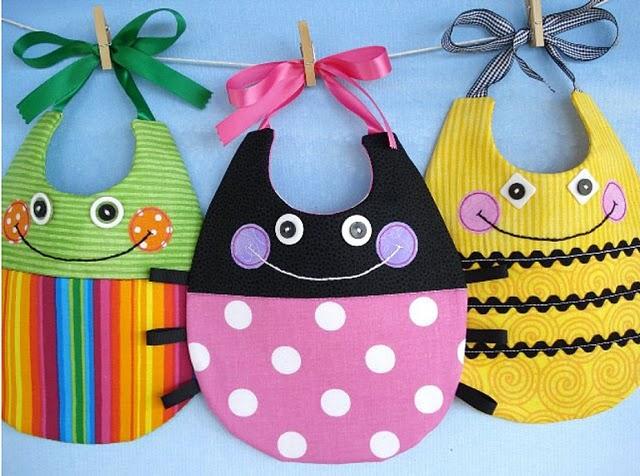 Moldes de baberos para bebés - Imagui