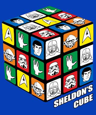 camiseta Sheldon's cube en tuestilo.net