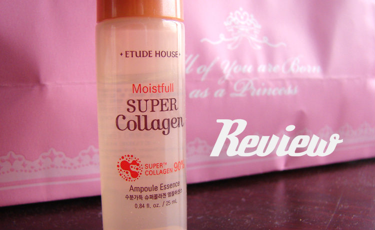 Review, Moistfull Super Collagen Ampoule Essence, Etude House.