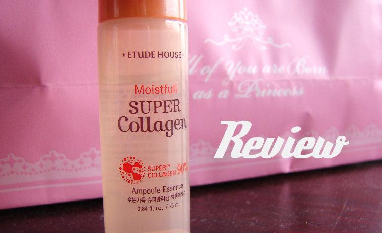 Review, Moistfull Super Collagen Ampoule Essence, Etude House.
