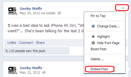 HOW TO : Embed the Facebook Status Updates on Your Website