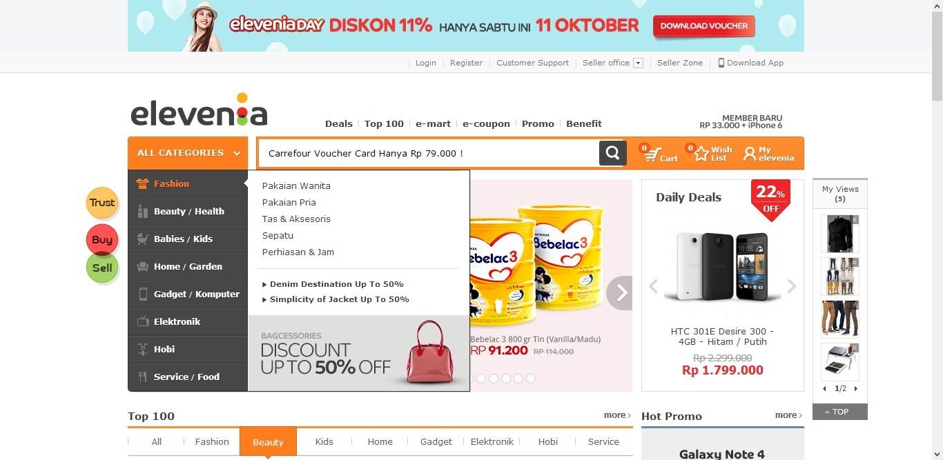 Online Shop ELEVENIA