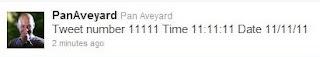 11111th Tweet at 11:11:11 on 11/11/11