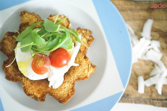tartine pandoro tomate mozza