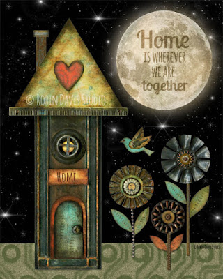 Home is wherever we are together! by Robin Davis Studio