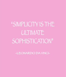 SIMPLICITY IS THE VALUE