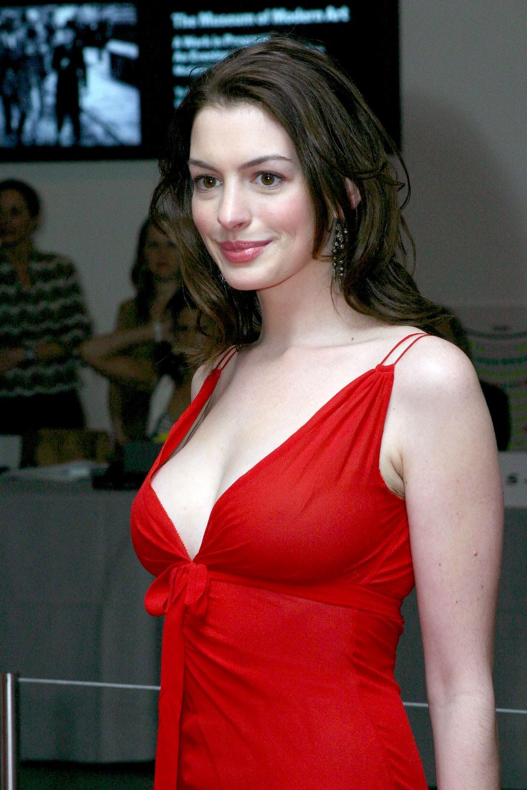 boobs Anne hathaway hot