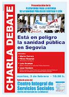 Presentación en Segovia Plataforma para la defensa de la Sanidad Pública de Castilla y León dia 3 F