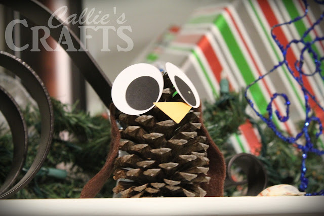 pine cone craft owl