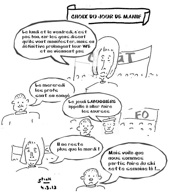 Manif héroïque vu par Stick