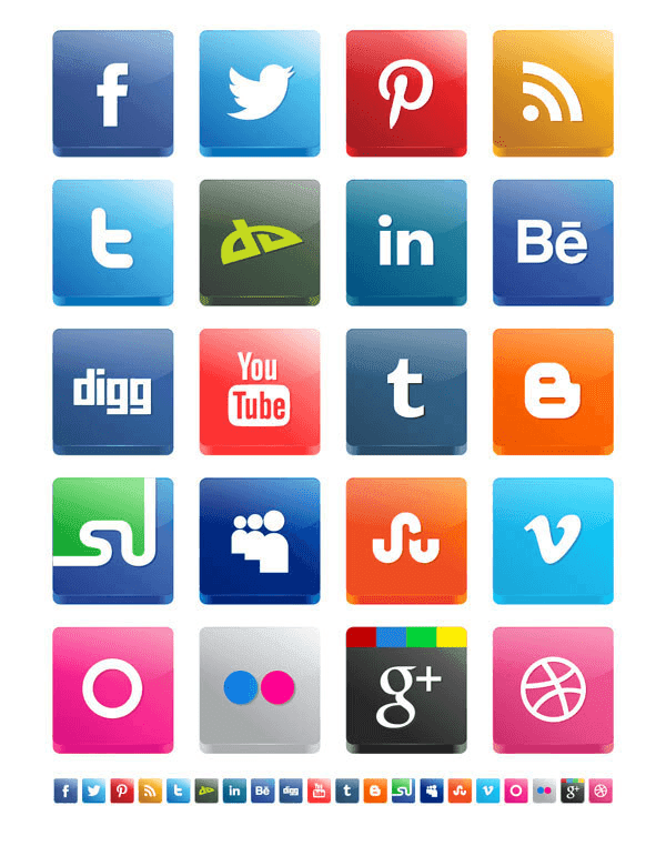 Vector 3D Social Media Icon Pack