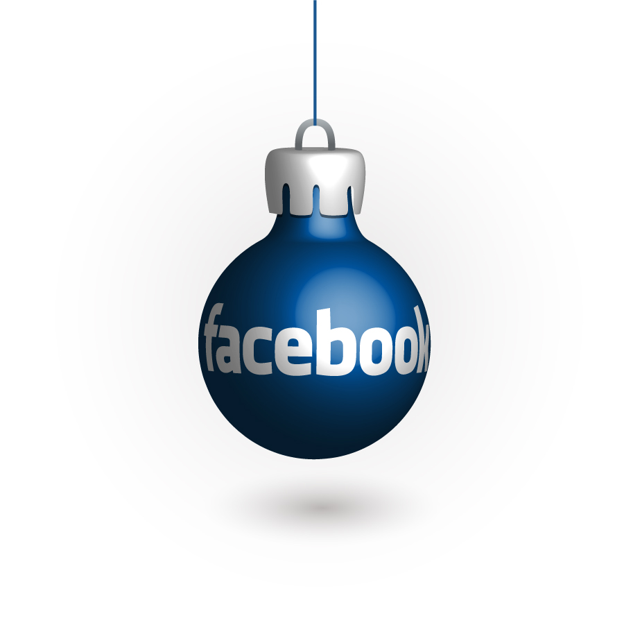 SNSロゴデザインのクリスマスボール Social Media Christmas Balls イラスト素材f