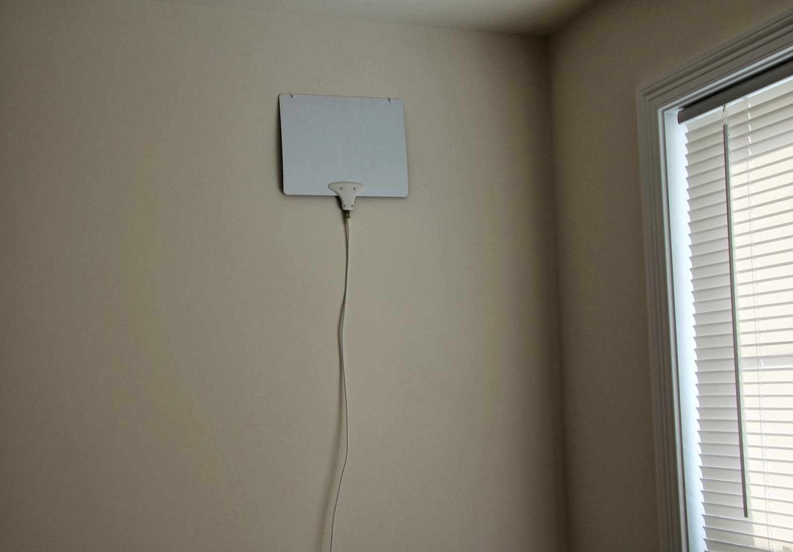 Cutting The Cable Cord Whole House Indoor Tv Antenna Wiring Basement Mohu Leaf On Spare Bedroom Wall