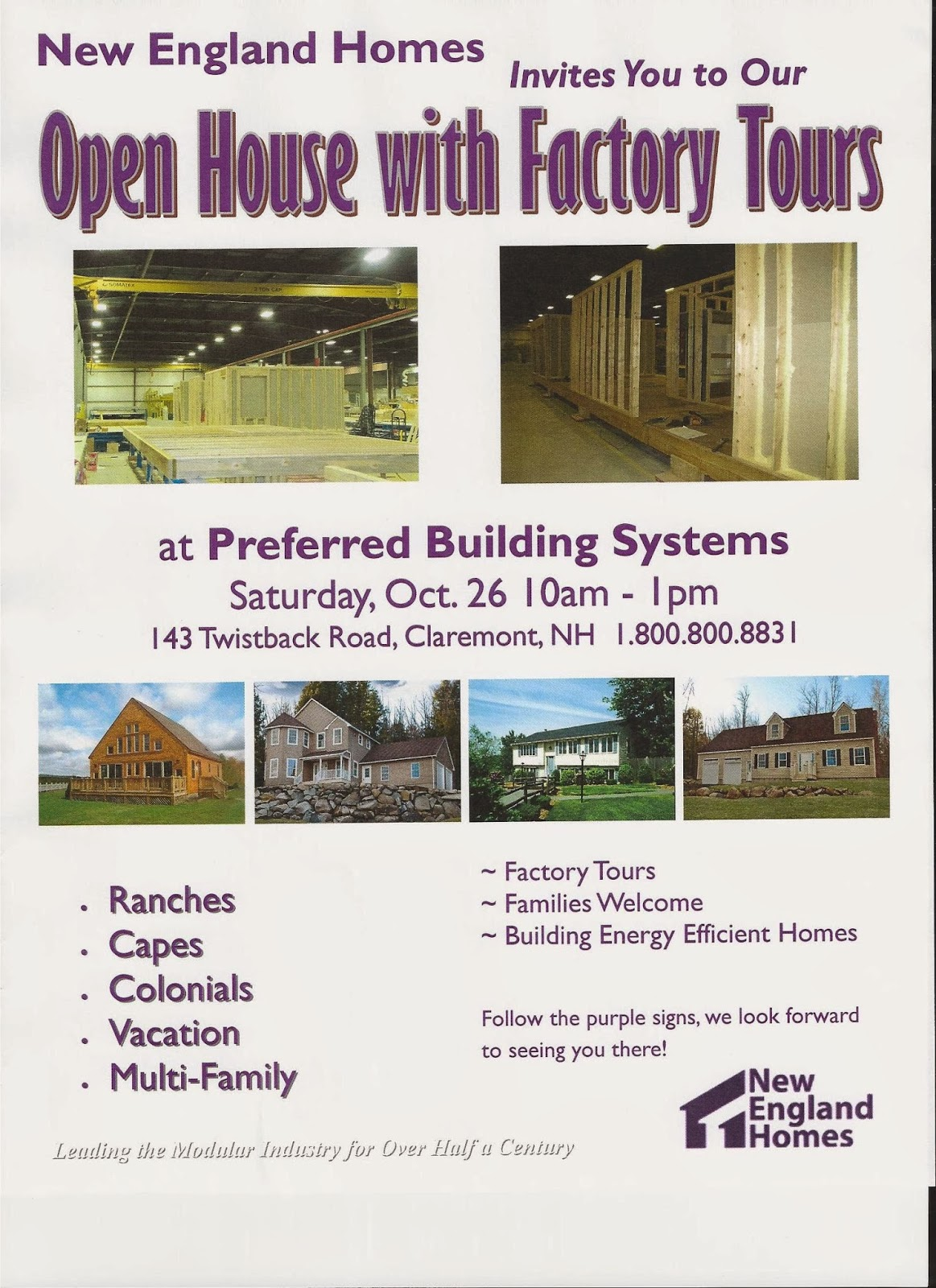Modular home builder new england homes holding open for New england home builders