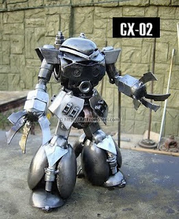 Robot hecho de acero