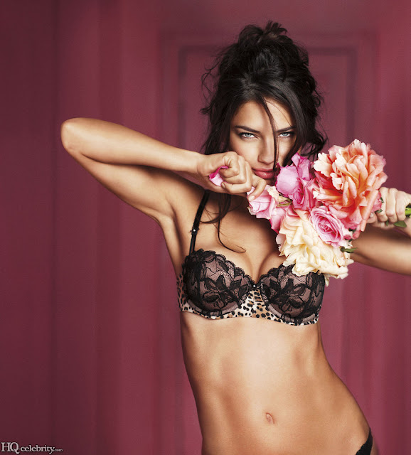 Adriana Lima Valentine's Day Hot Roses Photo Shoot 2011
