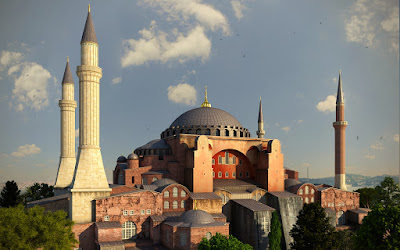 Hagia Sophia Museum at Istanbul Turkey