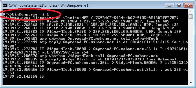 how to get tcpdump in windows