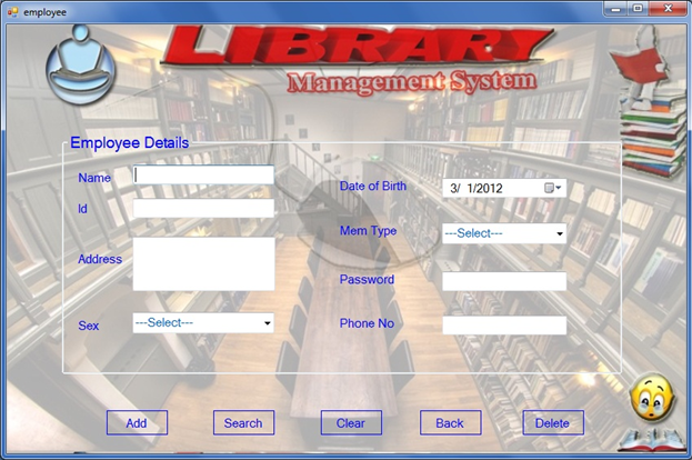 Website templates for Table design of library management system
