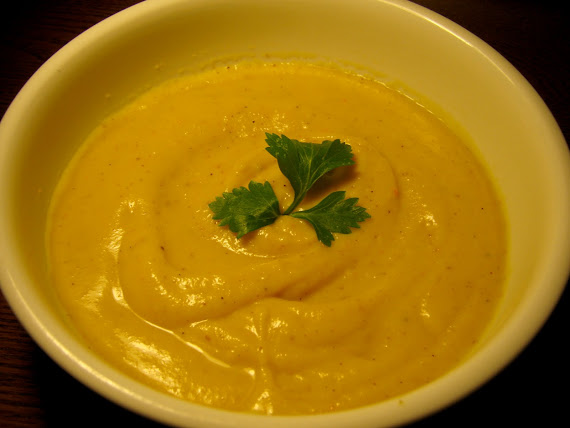 Spice-Roasted Carrot Soup with Yogurt