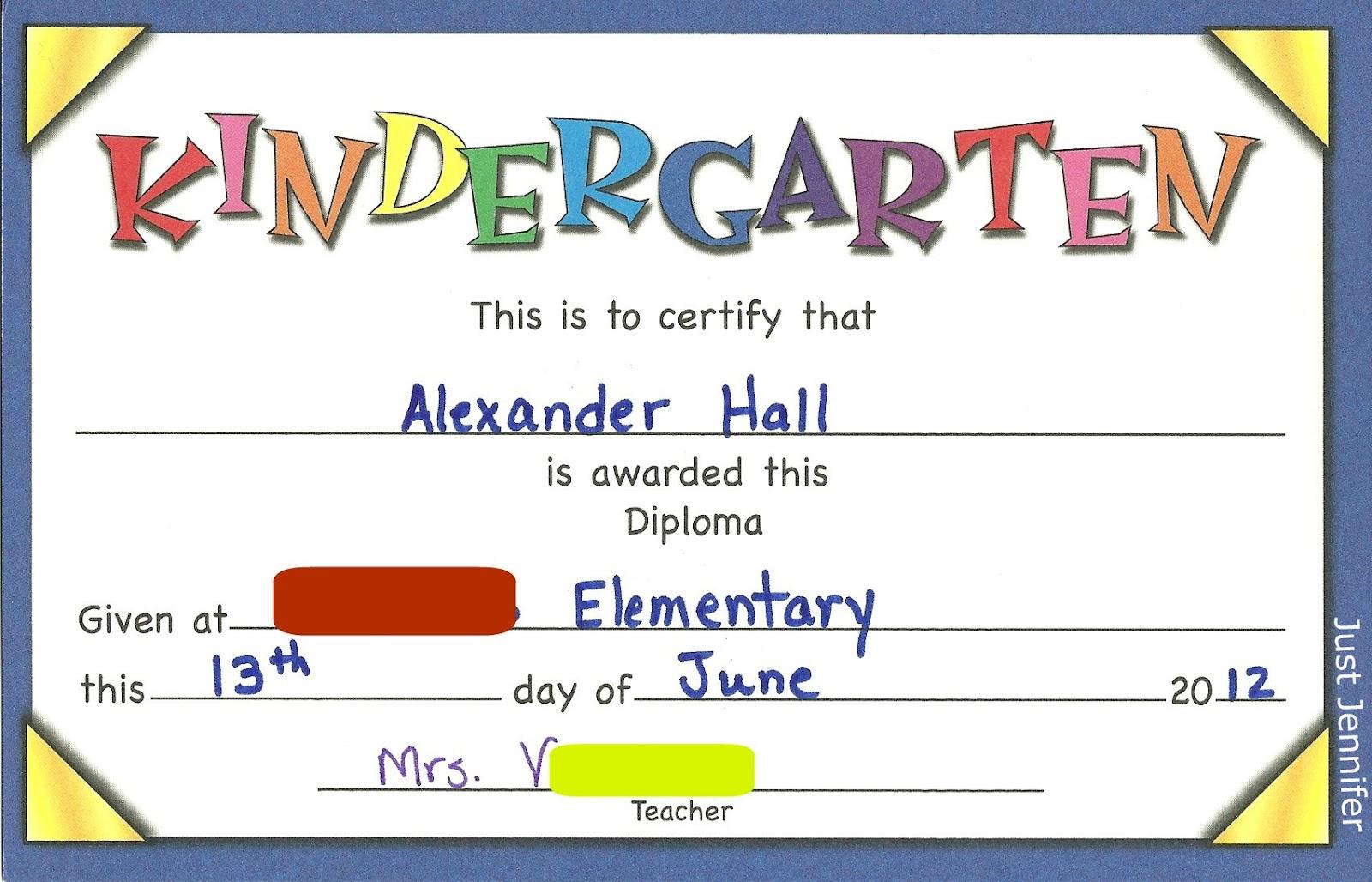 100 kindergarten graduation certificate template templates kindergarten graduation certificate template dancing in the rain june 2012 yadclub Gallery