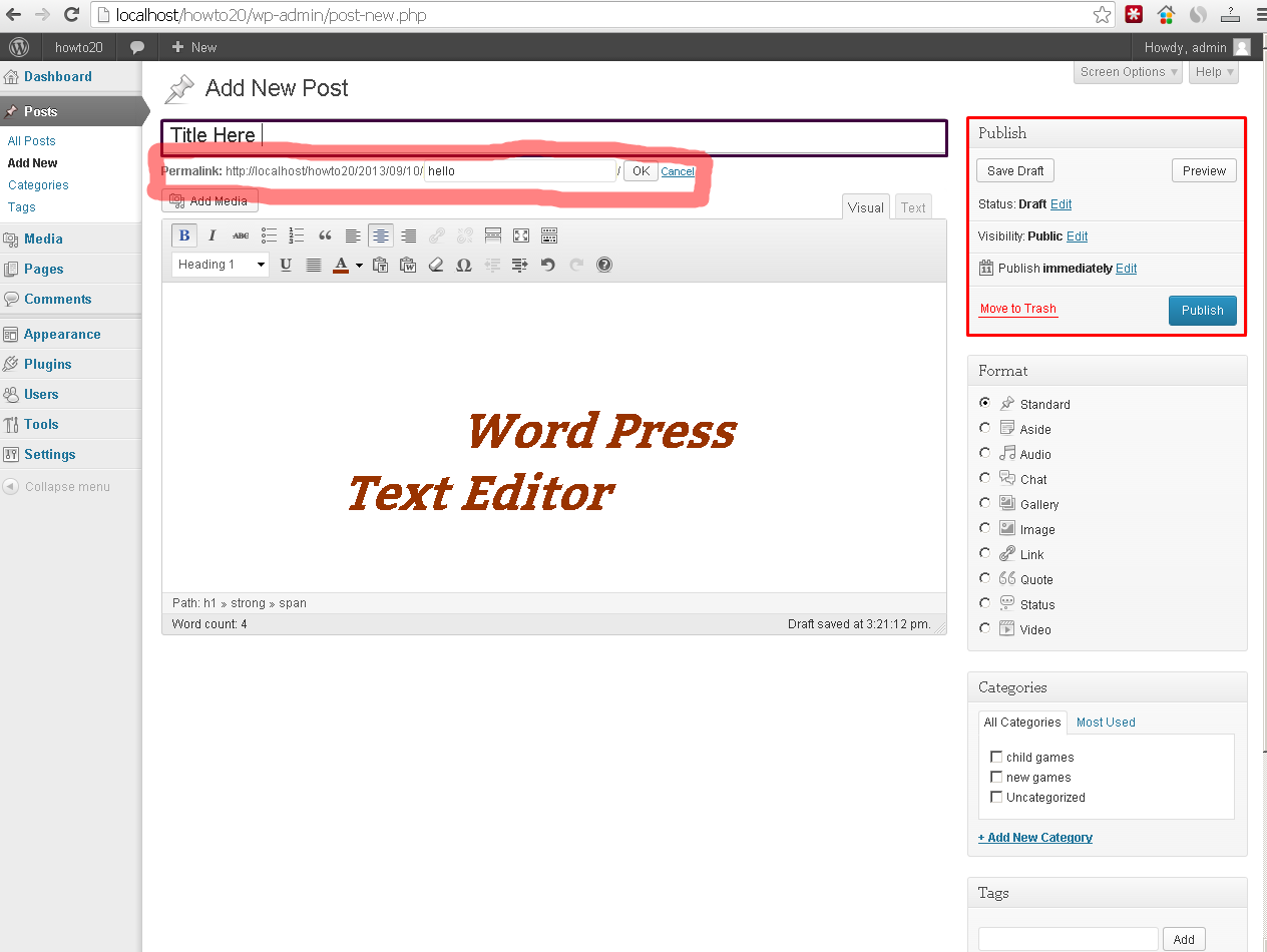 how to edit your post link in wordpress