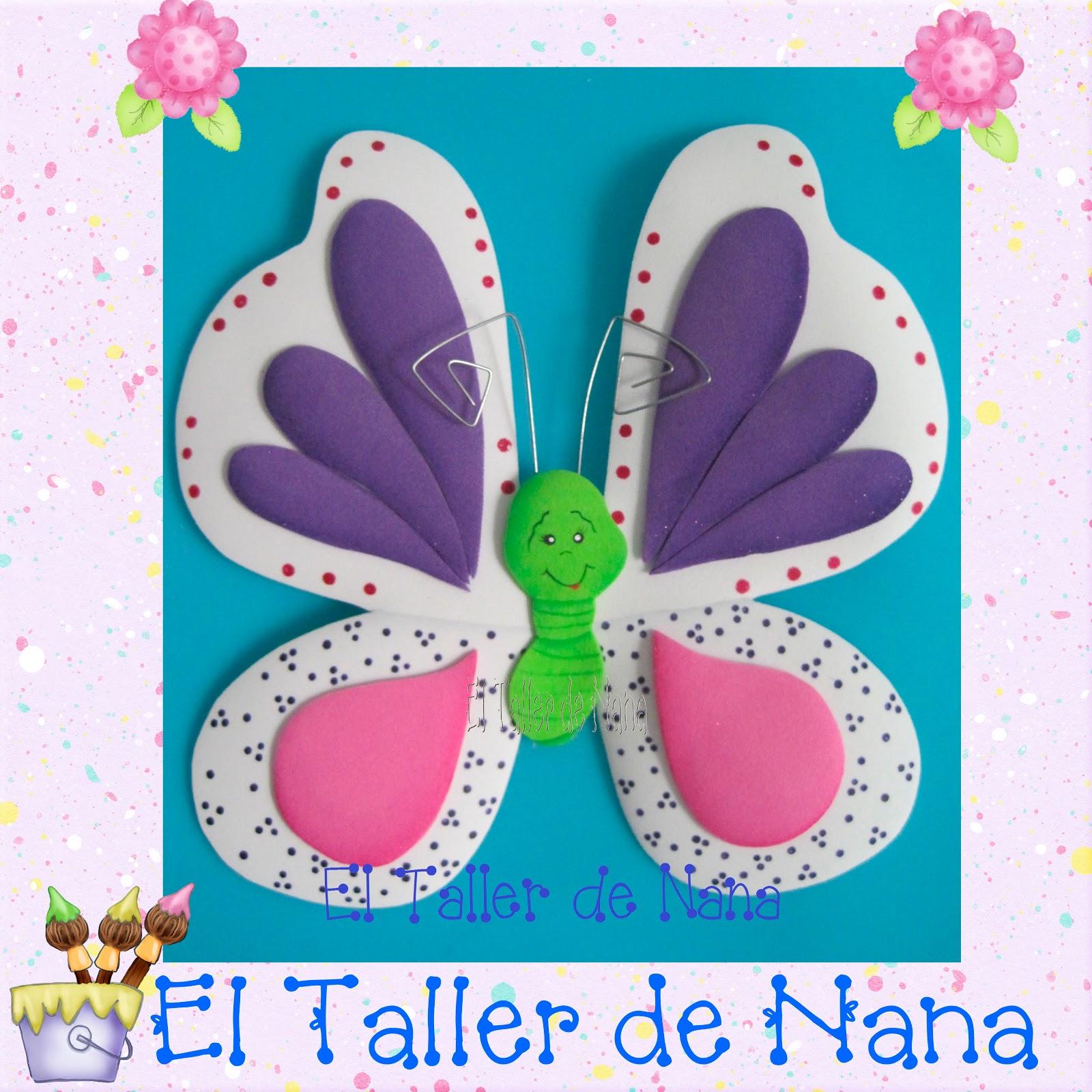 El Taller de Nana: Mariposa en Foamy