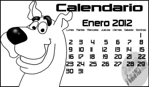 de Scooby para colorear : Enero 2012, calendarios con dibujos para ...