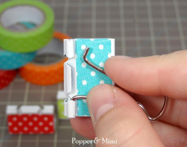 Insert binder clip handles | popperandmimi.com