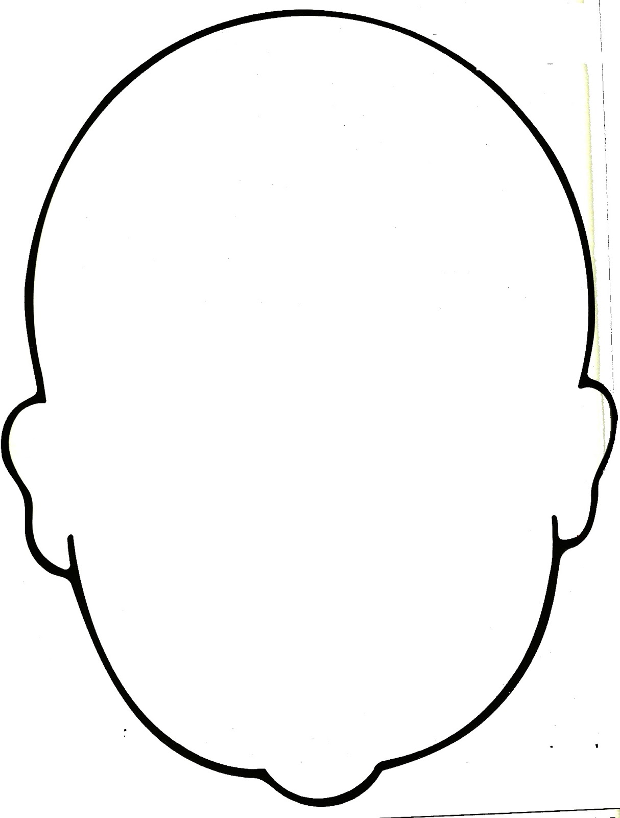 Blank human face outline - photo#9