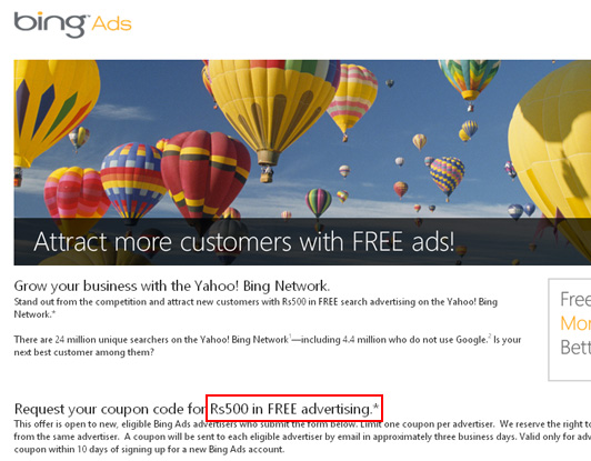New coupons adwords